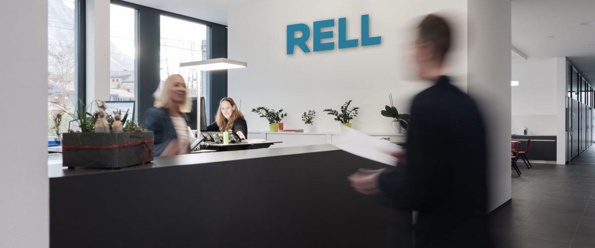 Empfang RELL mit neuem Logo